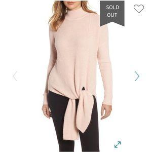 Halogen Tie Hem Sweater- pink smoke